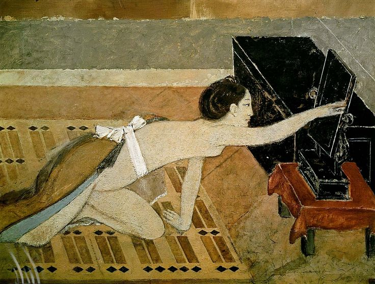 Balthus. Girl with a black mirror 1967