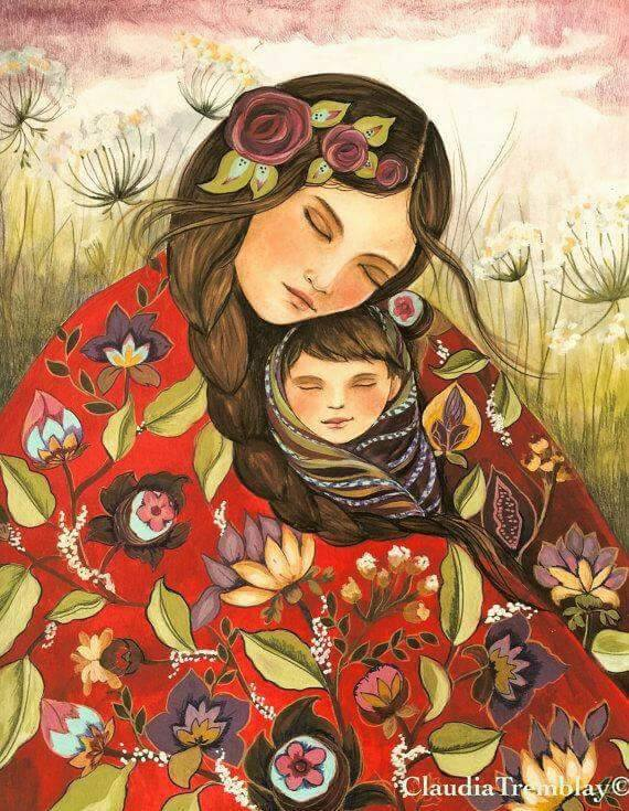 Mother and child, Quilt art and Quilt on Pinterest