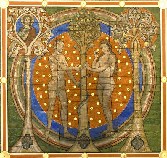 Tree of Jesse: Adam & Eve in paradise