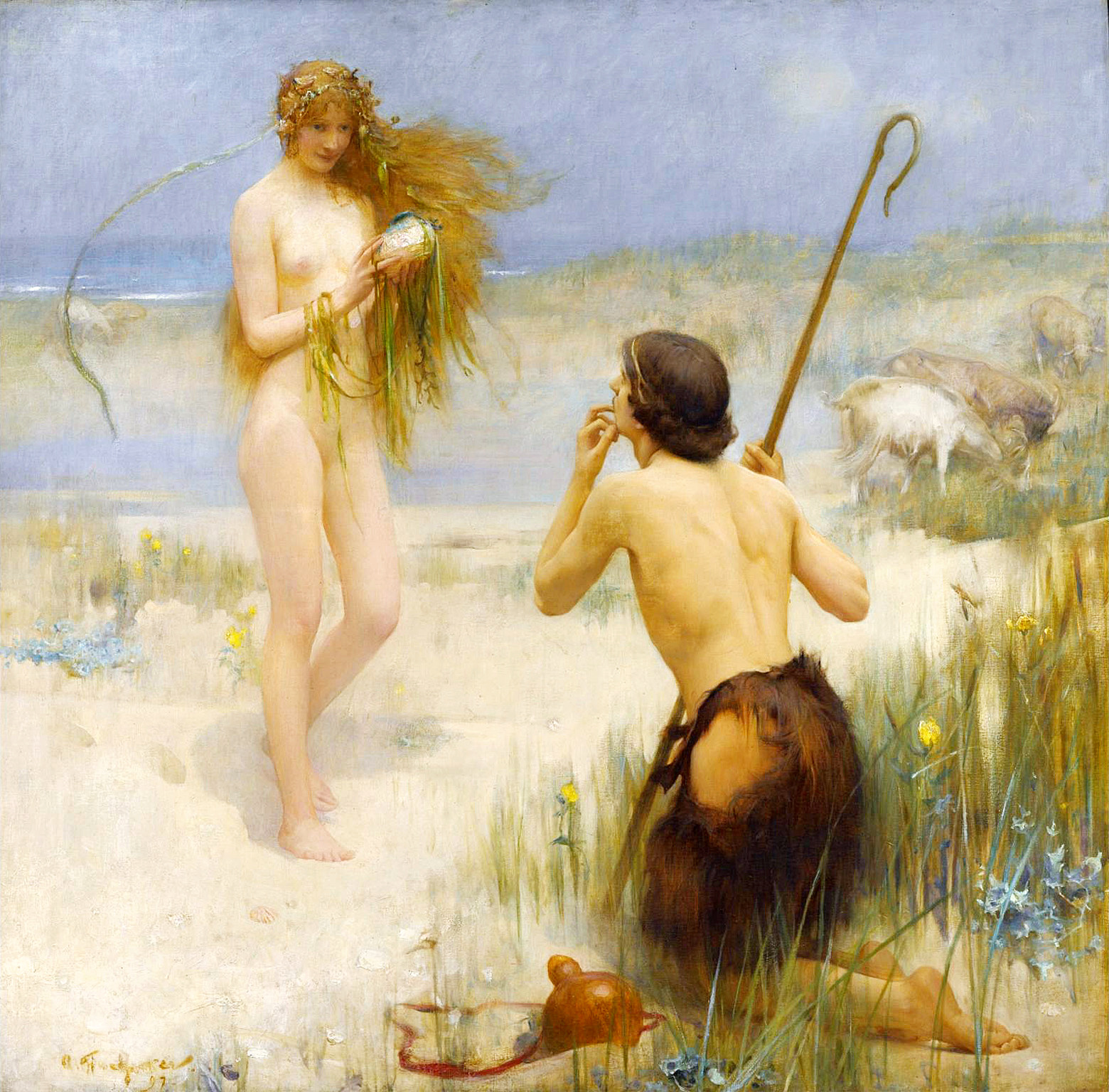 Arthur Hacker. The Sea-Maid 1897
