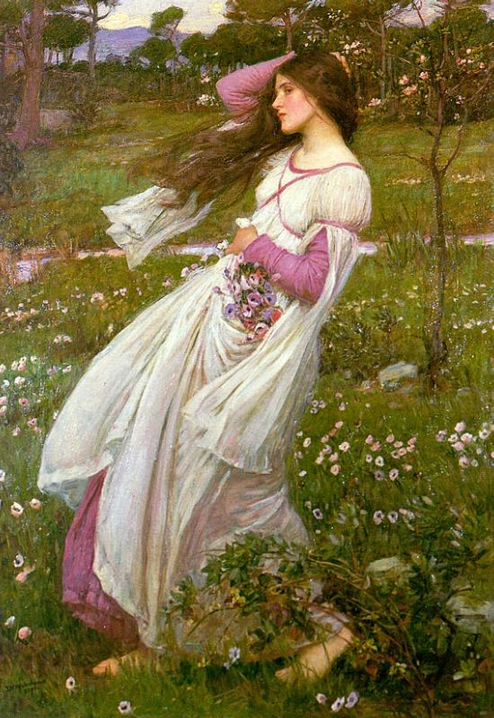 Windflowers by John William Waterhouse (1902)
