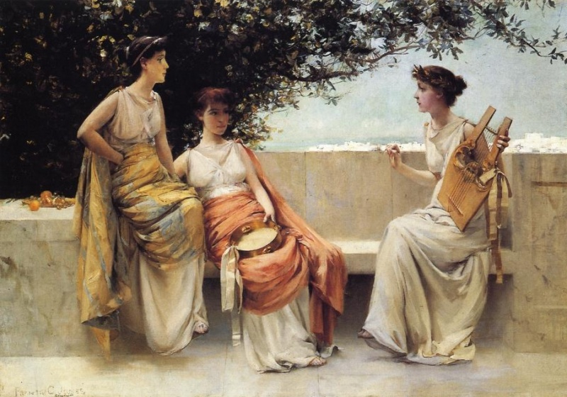 Francis Coates Jones, 1857-1932. Sappho