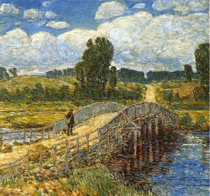 Frederick Childe Hassam - Bridge at Old Lyme (1908)