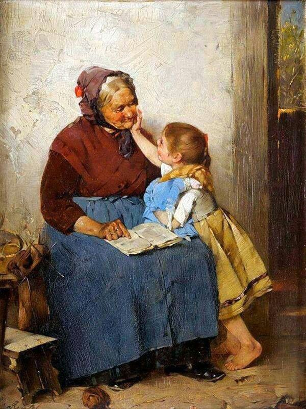 Max Rentel (Germany, 1850 - 1911)  Grandma is the best