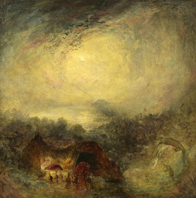 The evening of the deluge - joseph Mallord William Turner