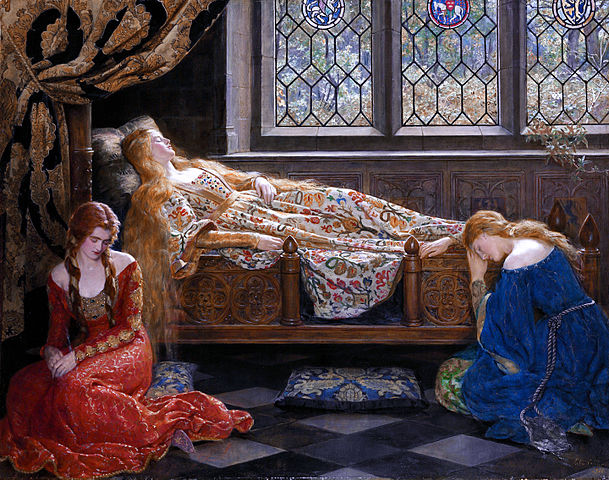 The sleeping beauty by John Collier