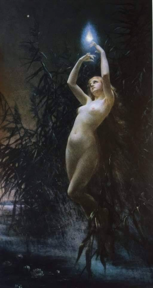 Lev Lerch (Czech, 1856-1892). Will-o'-the-wisp, before 1890