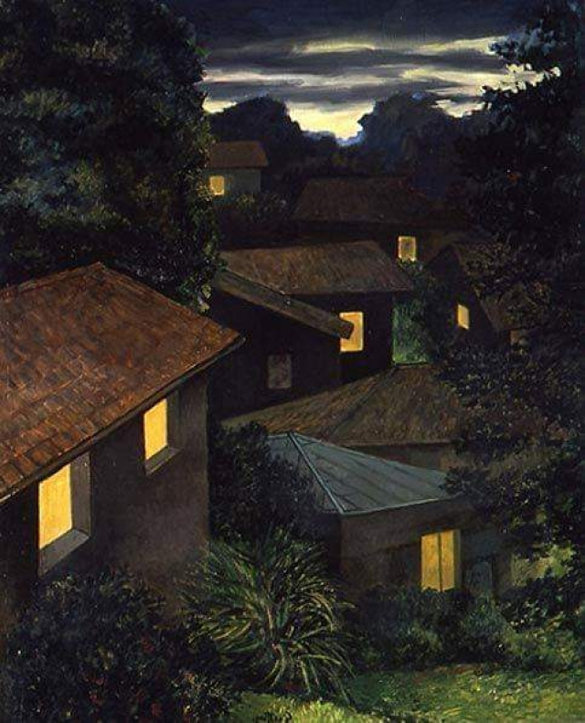 Renato Guttuso, Sera a Velate ( Evening in Velate), 1980
