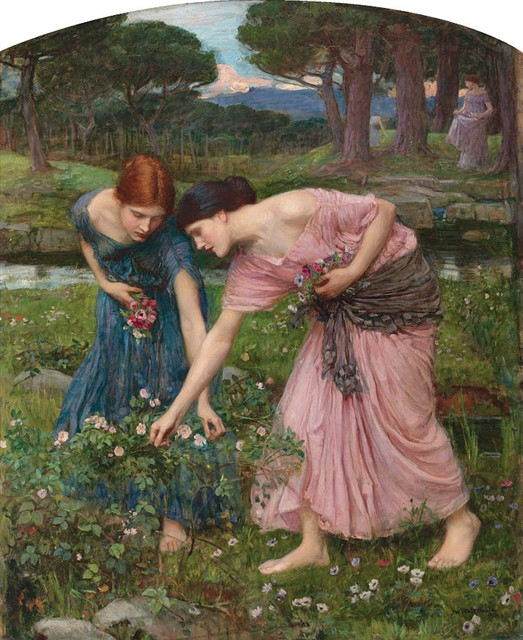 John William Waterhouse - Gather ye rosebuds while ye may (1909)