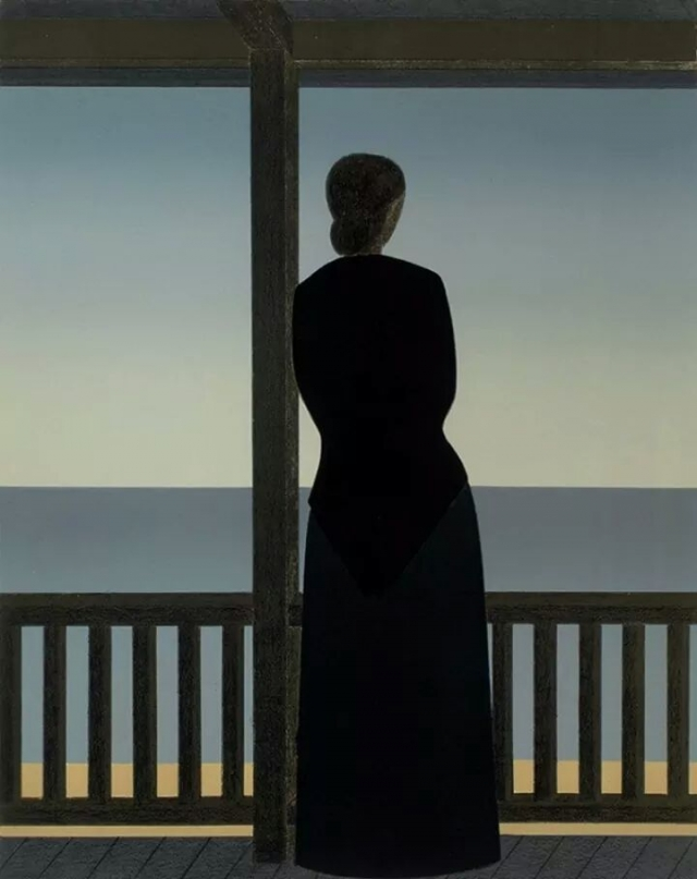 Woman by the sea, di Will Barnet, 1973