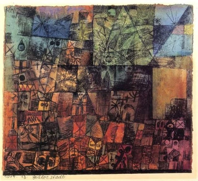 Paul Klee, City of Tombs (1914)