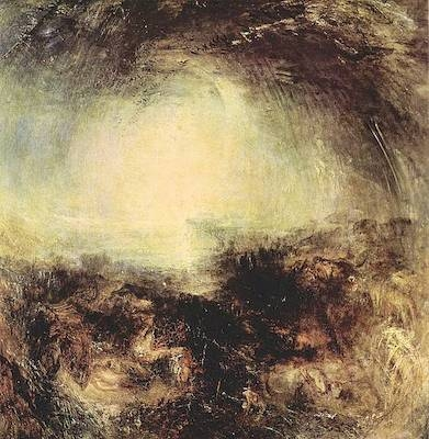 La notte prima del diluvio di William Turner