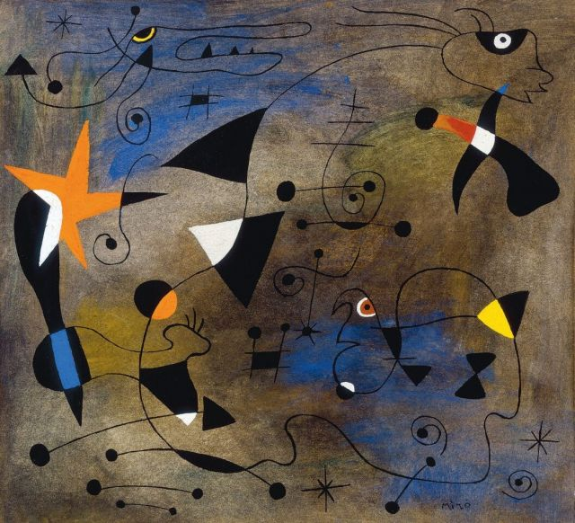 Joan miro Woman and Birds, ca. 1940