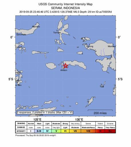 Terremoto in Indonesia, almeno un morto