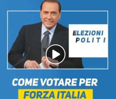"ELEZIONI 2018 ""Ecco come si vota"", video tutorial di Berlusconi"