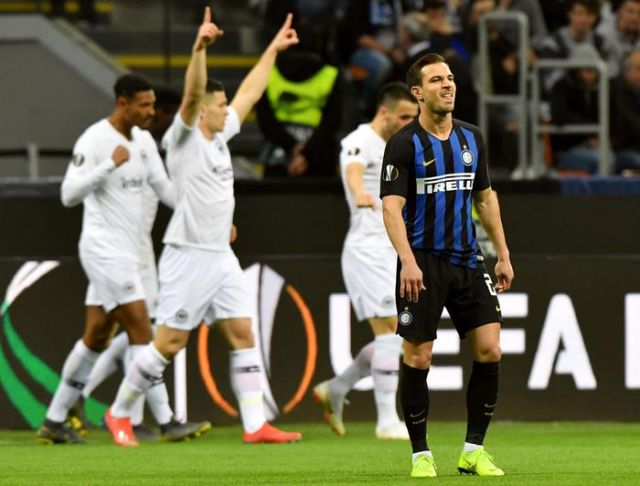 Europa League, Inter-Eintracht 0-1. Nerazzurri eliminati