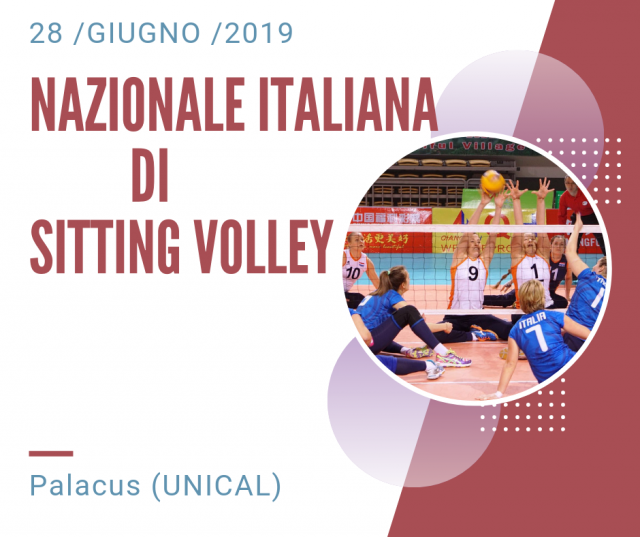 LA VOLLEY COSENZA OSPITERA' LA NAZIONALE ITALIANA DI SITTING VOLLEY